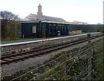 SO2508 : Station building skeleton, Blaenavon (High Level) railway station in April 2011 by Jaggery