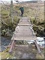 NN3328 : Footbridge crossing Allt Gleann Auchreoch by Liz Gray