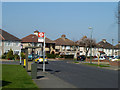 TQ4877 : Hythe Avenue, Cumberland Drive bus stop by Robin Webster