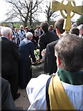 J4844 : Laying a wreath on St Patrick's Grave at Downpatrick by Eric Jones