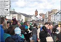 J4844 : St Patrick Day's Crowd in Market Street, Downpatrick by Eric Jones
