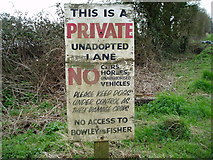 SU8700 : Advisory sign by Peter Holmes