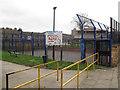 TQ3178 : Newington Estate - basketball by Stephen Craven