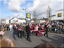 J4844 : The Latvian Delegation at Downpatrick's St Patrick Day's Parade by Eric Jones