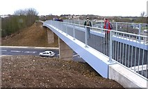 SY6778 : New Footbridge over Newstead Road by Mike Smith