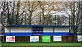 TQ0002 : Main stand, Climping Playing Fields, home of Clymping FC by nick macneill