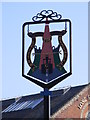 TM4462 : Leiston Cum Sizewell Town sign by Adrian Cable