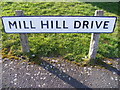 TM3877 : Mill Hill Drive sign by Adrian Cable