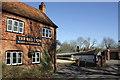 SU5385 : Brakspear pub and thatched cob walls by Roger Templeman