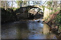 SO6648 : Footbridge over the River Frome by Philip Halling