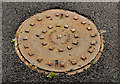 J5153 : Portadown Foundry manhole cover, Shrigley by Albert Bridge