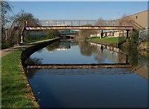 TQ2182 : Grand Union Canal, Old Oak Common by Derek Harper