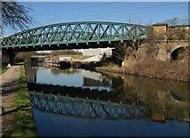 TQ2182 : Railway bridge across Grand Union Canal by Derek Harper