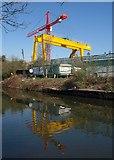 TQ2182 : Gantry and crane, Freightliner Terminal by Derek Harper