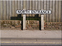 TM3863 : North Entrance sign by Geographer