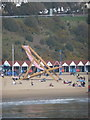 SZ0990 : Bournemouth: the giant deckchair from the pier by Chris Downer