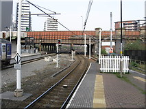 SJ8499 : Manchester Victoria station - view east from the Metrolink platforms by Peter Whatley