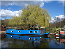TQ1683 : Narrowboat near Ballot Box Bridge by Derek Harper