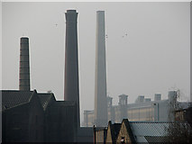 SE1437 : Shipley to Saltaire: chimneys by John Sutton