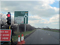 SP7209 : A418 approaching new Haddenham roundabout by John Firth