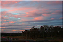 NJ3558 : Wave Clouds at Sunset by Anne Burgess