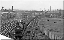 SE2932 : Southbound empties passing Leeds (Holbeck) Locomotive Depot, with ex-NER 0-8-0 by Ben Brooksbank