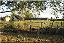SP4476 : Backland, southwest side of Church Lawford by Robin Stott