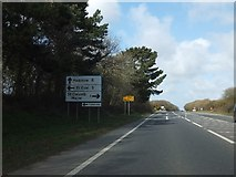 SW9164 : A39 junction for St Columb Major by David Smith