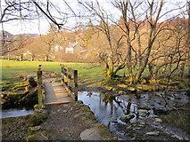 SH7357 : Footpath bridge and Ford by Chris McAuley