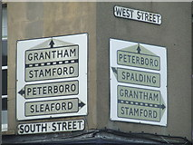 TF0920 : Pre-Worboys Road Signs by Keith Evans