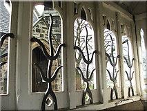 NZ3166 : View of Window Decoration  by Christine Westerback