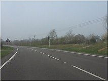 SJ5148 : A41 at the footpath (and cow) crossing by Peter Whatley