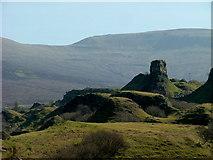 NG4162 : Castle Ewen in Fairy Glen by Dave Fergusson