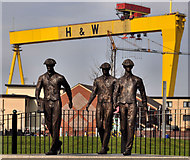 J3574 : Titanic Yardmen sculpture, Belfast (1) by Albert Bridge