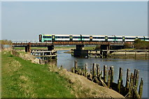 TQ0004 : Train Arriving at Ford, Sussex by Peter Trimming