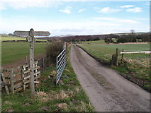 NZ0759 : Footpath Crossing on Modigars Lane by Clive Nicholson
