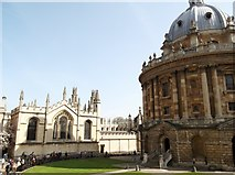 SP5106 : Entrance to the Radcliffe Camera, Oxford by Robin Sones