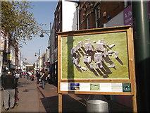 TQ7567 : Britain from the Air Street Art, Chatham High Street by David Anstiss