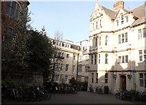 SP5106 : Hertford College buildings, Catte Street, Oxford by Robin Sones