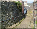 SO0450 : Ruth Lane/Cobble Lane descends towards High Street, Builth Wells by Jaggery