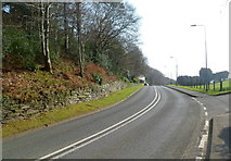 SH5638 : Borth Road heads out of Porthmadog by Jaggery