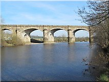 NY7063 : The River South Tyne and Alston Arches Viaduct by Mike Quinn