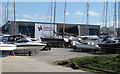 TQ8497 : Fambridge Yacht Haven yard by Roger Jones