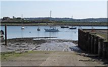 TQ8596 : North Fambridge Quay Slipway  by Roger Jones