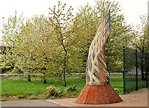 J3574 : Sculpture, east Belfast (2) by Albert Bridge
