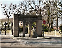 SJ9090 : Woodbank Memorial Park Entrance by Gerald England
