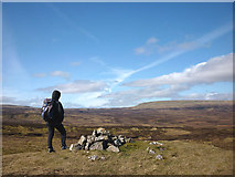 NY8220 : Cairn on Ley Seat by Karl and Ali