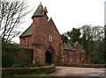 SJ5357 : Peckforton Castle Entrance Lodge by Espresso Addict