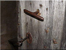 ST9383 : Door furniture, The Church of the Holy Rood by Maigheach-gheal