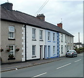 SN7634 : Broad Street houses west of the A40, Llandovery by Jaggery